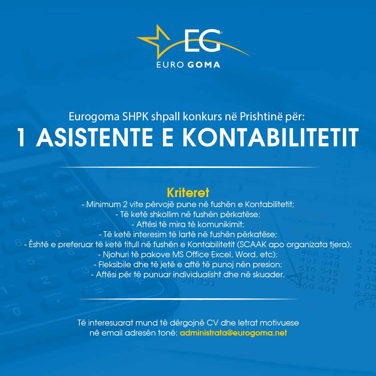 Eurogoma Kontabilitet
