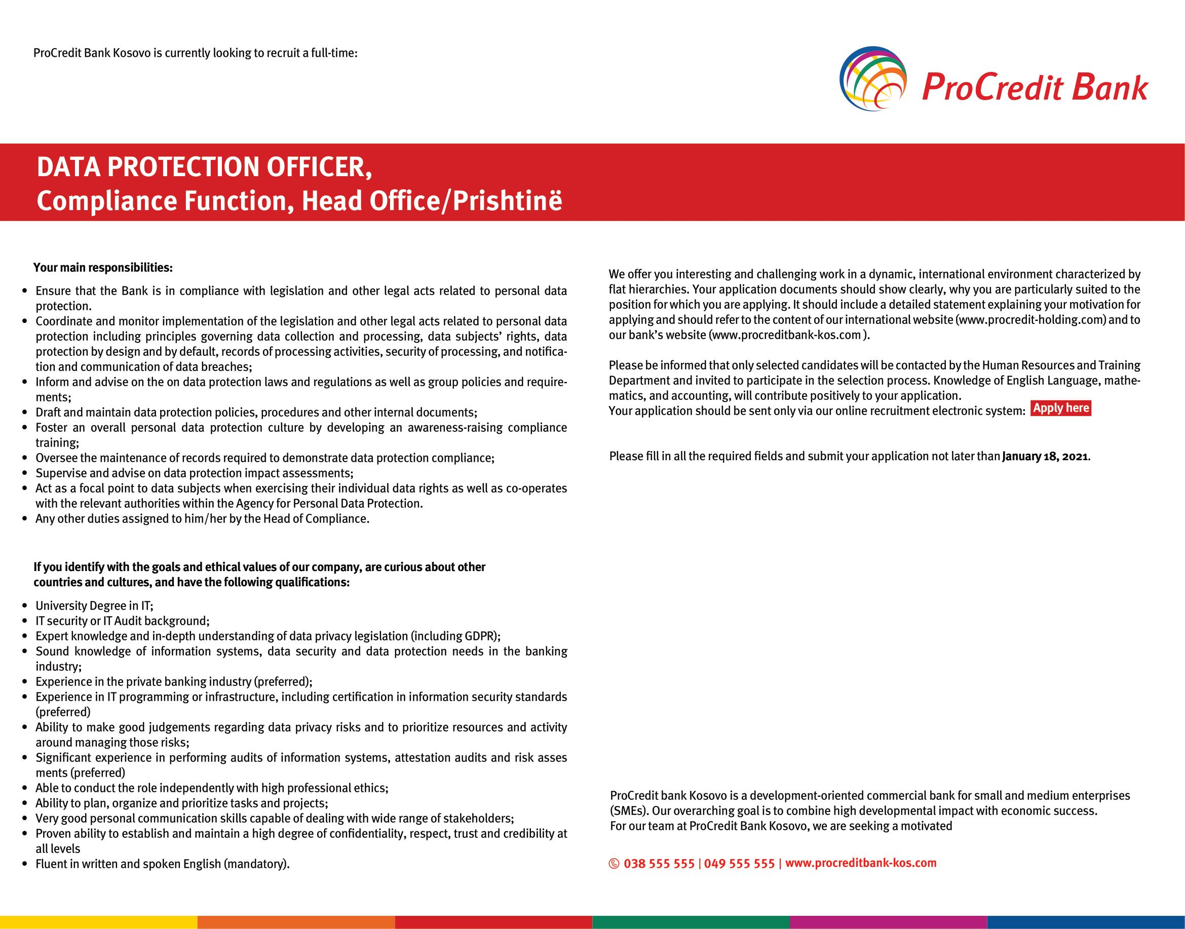 Procredit Bank DATA